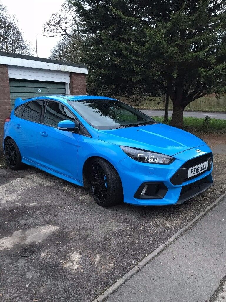bargain price ford focus rs nitrous blue 2 3l 2016 reg petrol immaculate condition in. Black Bedroom Furniture Sets. Home Design Ideas