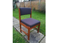 FREE! Black upholstered wooden chairs - 9 available