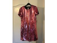 Women's pink sequin dress