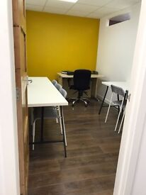 Flexible serviced offices with workshop and storage space