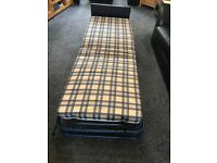 Folding single guest bed