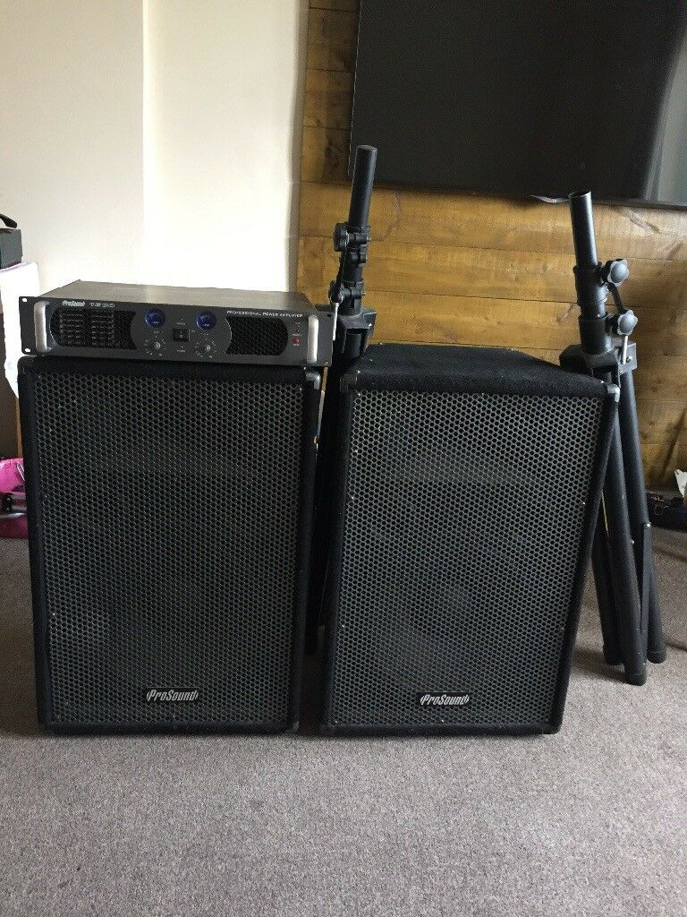 ProSound 2Channel 1600W Amplifier,speakers,stands