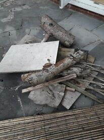 BBQ Woodburner Fire.Wood ...Pile of wood for collection only