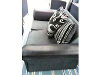 SCS grey & black sofa includes free delivery.