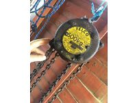Heavy duty vintage felco block and tackle