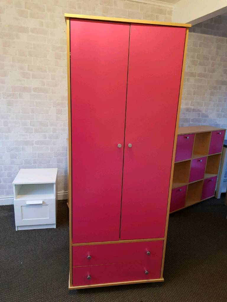 Next girls pink wardrobe