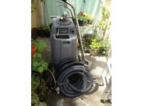 Rhino carpet cleaning extraction machine with triple jet wand and stair/upholstery tool