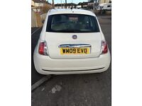 09 White Fiat 500 Pop, low mileage, low cost on fuel, £30 to tax, MOT expires Dec 17, Great city Car