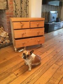 Antique Pine Chest of Four Drawers