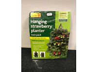 Hanging strawberry planter twin pack. Ideal for greenhouse. Genuine stock clearance