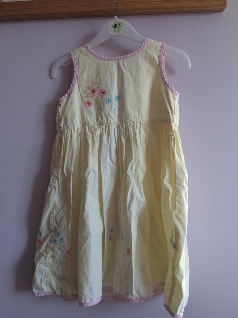 Next, yellow summer dress 2-3 years. VGC