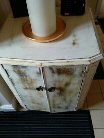 Vintage painted distressed pot cupboard