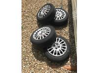 4x100 fiat Grande punto / Vauxhall corsa wheels with tyres 175/65/15