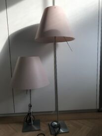 Costanza Table lamp and floor lamp sold as pair