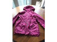 Mothercare Pink floral age 7 raincoat