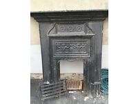 cast iron fireplace (about 1850's)