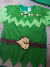 Disney Peter pan costume 5 to 6 years Excellent condition