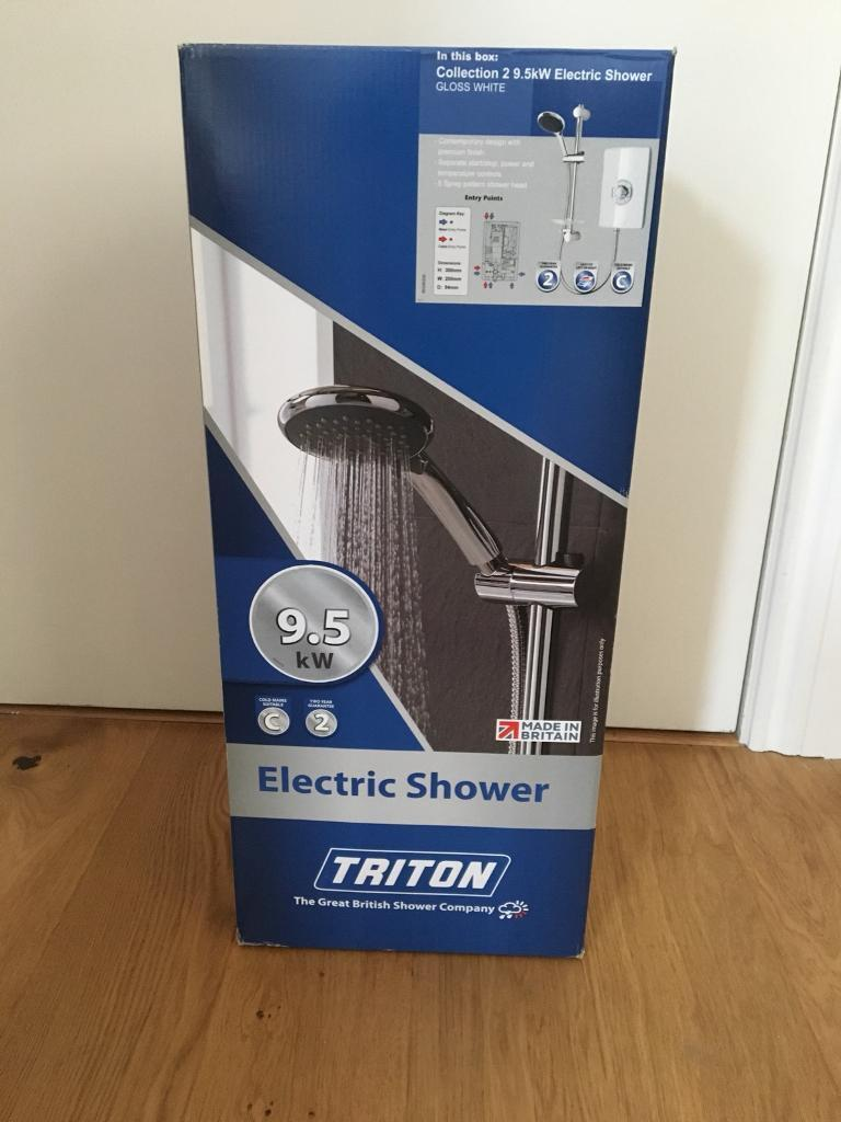 Triton Collection II 9.5kW Electric Shower - White Gloss new and unused in Shoreditch