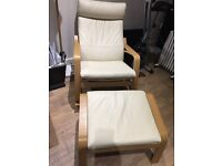 IKEA Rocking-chair and footstool POÄNG