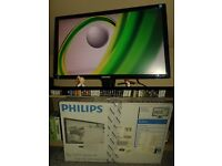 """Phillips 24"""" inch LCD Brilliance Monitor 1080p full HD - with box"""
