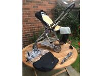 Mamas & Papas Urbo Black Pushchairs Single Seat Stroller & Accessories RRP £550 plus