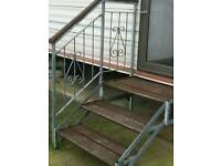set of 2 static caravan steps