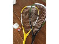 Squash Bundle 2x racquet + balls