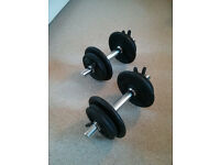 2x Domyos 10 kg Weight Training Dumbbells Set