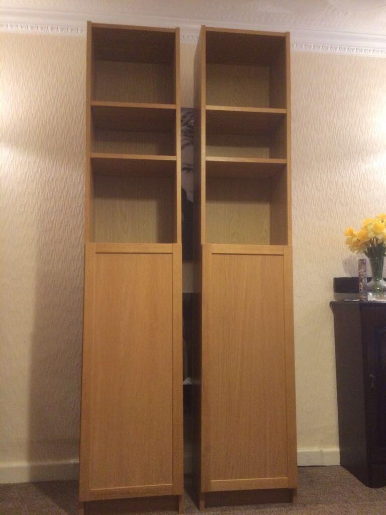 Ikea Billy Bookcases With Half Doors In Bridgend Gumtree