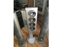 Ministry of Sound 4disc CD player with remote and tower speakers