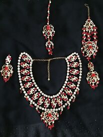 Indian Pakistani wedding bridal red jewellery