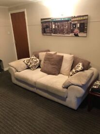 Sofa, twister chair and footstool