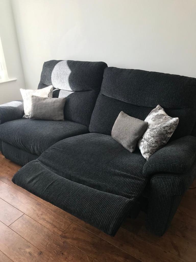 Scs 3 Seater Power Recliner And 2 Seater Static Sofas In