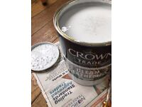 5L can of Crown Trade Clean Extreme Scrubbable Matt emulsion paint