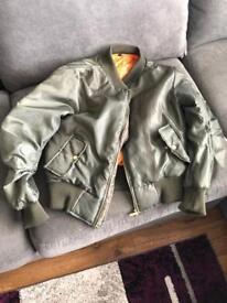 Green bomber jacket never worn