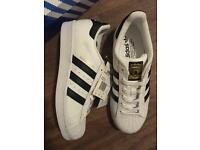 Adidas superstars size 6 (NEW)