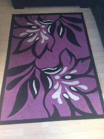 Stunning rug... black/cream/ purple