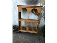 Solid wood Victorian plate rack