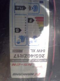 nankang tyres 205x40x17