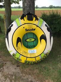 Sevylor let biscuit inflatable 1 man rubber ring boat jet ski watersports