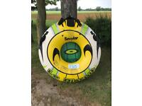 Sevylor let biscuit inflatable 1 man rubber ring boat jet ski watersports towable tube