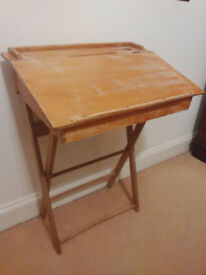 Vintage child's desk, wood, foldable