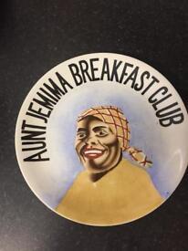 Aunt Jemima Breakfast Club Vintage Plate