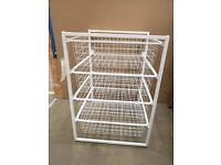JONAXEL Frame with mesh baskets, white 50x51x70 cm IKEA MILTON KEYNES #bargaincorner