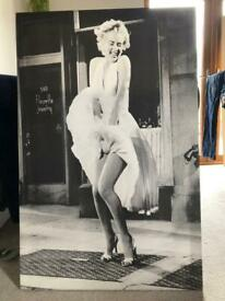 Marilyn Monroe large canvas picture
