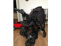 Britax B-Smart 4 pushchair black thunder, baby car seat included £65