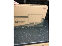 Acer monitor 19.5 in brand new bought as a gift and left to long to return £50