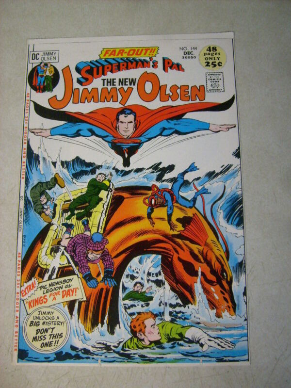 SUPERMANS PAL JIMMY OLSEN #144 KIRBY, COVER ART approval cover proof 1970