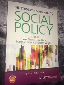 The Student's Companion to Social Policy - Fifth Editon