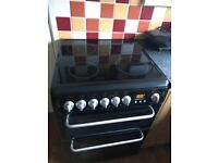 Hotpoint freestanding electric oven - black